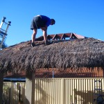 DIY Bali hut thatched roof replacement