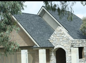 Roof shingles on new homes in Melbourne